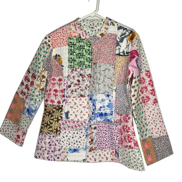 Reversible Quilted Jacket Long Sleeve patchwork
